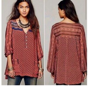 Free People Feather in the Wind blouse size small
